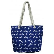 Beach Bag w/Horse Print