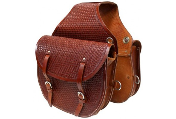 Origin Leather Saddle Bag w/Tooling
