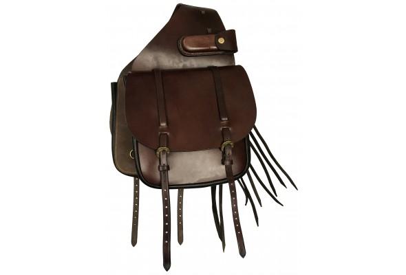 Origin Leather Saddle Bag with Tassels
