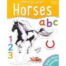 MK Wipe Clean Learn To Write Horses
