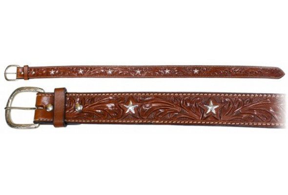 Origin Hand Carved Belt with Star