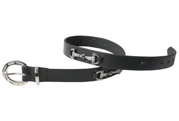 Enzo Leather Belt w/Diamante Bit