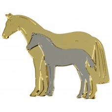 Lapel Pin Mare and Foal