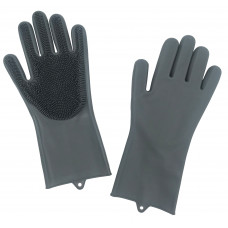 Grooming Gloves with Bristle Pair
