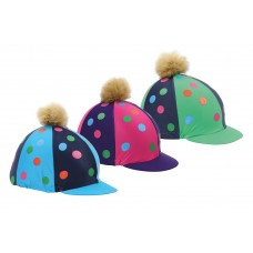 Shires Pompom Hat Cover w/spots