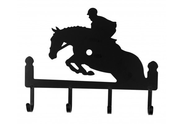 4 Hook Key Holder Jumping Horse
