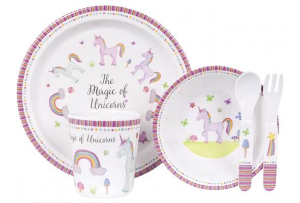 Ashdene Unicorn Magic Kids 5pc DinnerSet
