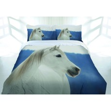 Snowy Horse Quilt Cover Set