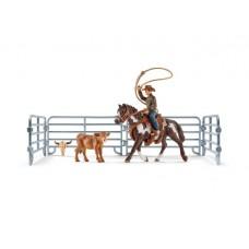 Schleich - Team Roping with Cowboy