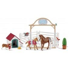 Schleich - Hannahs guest horses w/dog