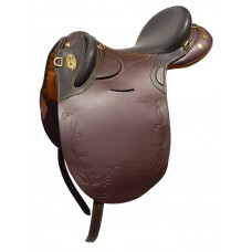 Origin Leather Stock Saddle