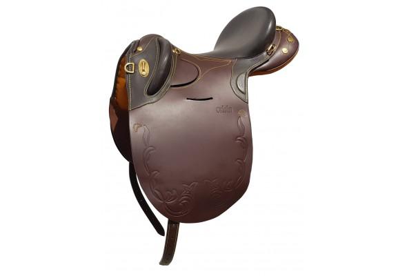 Origin Leather Stock Saddle