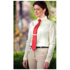 Shires Ladies L/S Tie Shirt