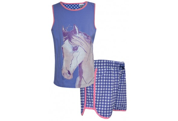 TC Girls Pastel Horse PJ's