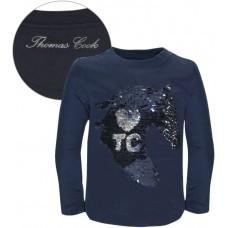 Thomas Cook Girls Rev Sequin Top