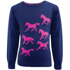 Thomas Cook Girls Horse Knit Jumper