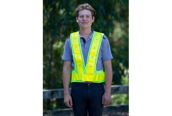 Safety Vest With LED Light Yel
