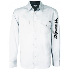 Wrangler Mns Rodeo LS Drill Shirt