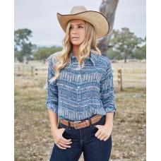 Wrangler Womens Gia 3/4 Slv Shirt
