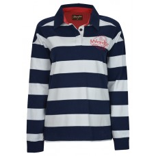 Wrangler Womens Poppy Stripe Rugby